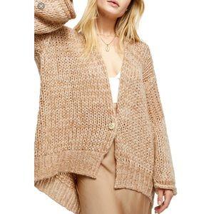Free People Home Town Cardigan Sweater Chunky Boho
